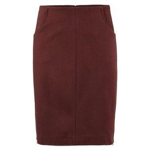 cabi NEW ponte stretch burgundy pencil skirt sz 10